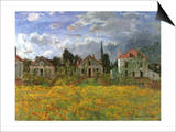Houses in Countryside, 1873 Posters by Claude Monet