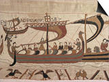 Invasion Fleet, Bayeux Tapestry, France Prints by Walter Rawlings