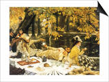 Picnic Lunch by Pool, 1876 Posters by James Tissot