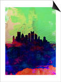 Pittsburgh Watercolor Skyline Posters by  NaxArt