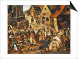 The Seven Acts of Mercy Art by Pieter Bruegel the Elder