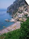 Positano, Costiera Amalfitana, Unesco World Heritage Site, Campania, Italy Prints by Roy Rainford