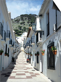 Calle San Sebastian, a Narrow Street in Mountain Village, Mijas, Malaga, Andalucia, Spain Posters by Pearl Bucknall