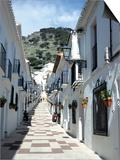 Calle San Sebastian, a Narrow Street in Mountain Village, Mijas, Malaga, Andalucia, Spain Posters by Pearl Bucknall