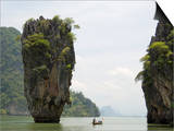 View of Koh Ping-Gan from Koh Ta Poo, Known as James Bond Island, Phang-Nga Bay, Thailand Posters by Sergio Pitamitz