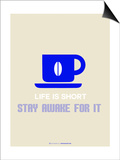 Coffee Poster Blue Print by  NaxArt
