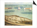 Entrance to the Harbor, 1888 Poster by Georges Seurat