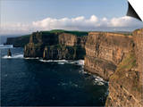Cliffs of Moher, Rising to 230M in Height, O'Brians Tower and Breanan Mor Seastack, County Clare Prints by Gavin Hellier