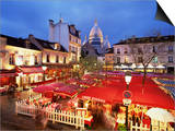 Place Du Tertre at Night, Montmartre, Paris, France Art by Nigel Francis