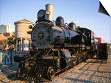 Locomotive, Haymarket District, Lincoln, Nebraska, USA Print by Michael Snell
