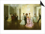 Early Ball Arrivals, 1873 Art by James Tissot