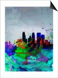 Minneapolis Watercolor Skyline Prints by  NaxArt