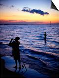 Boys Fishing, Lake Erie, OH Prints by Jeff Greenberg