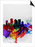 Phoenix Watercolor Skyline 2 Prints by  NaxArt
