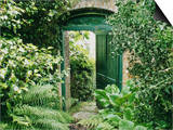 Doorway in Wall Leading to Kitchen Garden Trevarno, Cornwall Art by Mark Bolton