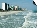 Seashore, Myrtle Beach, South Carolina, USA Poster by Ethel Davies