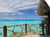 Kia Ora Resort, Rangiroa, Tuamotu Archipelago, French Polynesia Islands Poster by Sergio Pitamitz