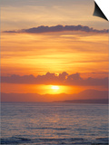 Sunset Over Sea, Costa Del Sol, Andalucia (Andalusia), Spain, Mediterranean Poster by Michael Busselle