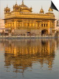 The Sikh Golden Temple Reflected in Pool, Amritsar, Punjab State, India Reprodukcje autor Eitan Simanor