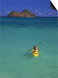 Woman Kayaking, HI Prints by Tomas del Amo