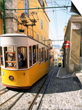 Funicular at Elevador Da Bica, Lisbon, Portugal Prints by Yadid Levy