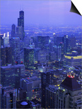 Skyline Dusk, Chicago, IL Plakater af Mark Gibson