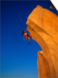 Female Rock Climber Prints by Greg Epperson