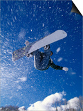 Male Snowboarder Flying Throught the Air Art