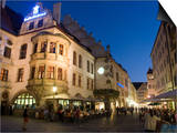 Hofbrauhaus Restaurant at Platzl Square, Munich's Most Famous Beer Hall, Munich, Bavaria, Germany Art by Yadid Levy