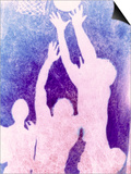 Silhouette of Basketball Game Prints by Lonnie Duka