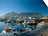 The V & A Waterfront and Table Mountain Cape Town, Cape Province, South Africa Prints by Fraser Hall