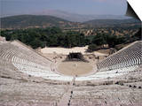 Restored Theatre, Epidaurus, Unesco World Heritage Site, Greece Prints by Jack Jackson