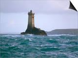 Phare De La Vieille (Lighthouse), Raz De Sein, Finistere, Brittany, France Prints by Bruno Barbier