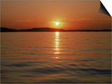 Sunset Over Lake Lanier, GA Posters by Mark Gibson