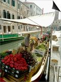 Canalside Vegetable Market Stall, Venice, Veneto, Italy Prints by Ethel Davies