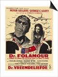 Dr. Strangelove, Belgian Movie Poster, 1964 Print