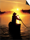 Sunrise Canoeing, Boundary Waters Canoe Area, MN Prints by Amy And Chuck Wiley/wales