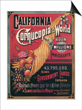 California , Cornucopia of the World, c.1880 Print