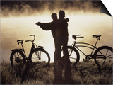 Mature Couple Dancing Near Bicycles, CO Prints by Bob Winsett