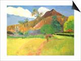 Tahitian Landscape, 1891 Print by Paul Gauguin