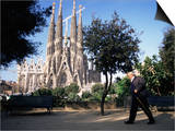 Sagrada Familia Cathedral, Barcelona, Catalonia, Spain Posters by Graham Lawrence