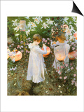 Chinese Lanterns, Girls, 1885 Posters by John Singer Sargent
