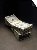 Bundles of Hundred Dollar Bills Prints by Howard Sokol