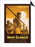 Seven Samurai, Italian Movie Poster, 1954 Poster