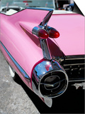 Close-Up of Fin and Lights on a Pink Cadillac Car Posters by Mark Chivers