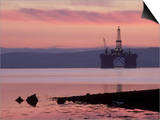 Oil Rig at Dawn, Ross-Shire, Scotland Posters by Iain Sarjeant