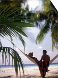 Silhouetted Couple, Felidu Atoll, Maldives Posters by Stuart Westmorland