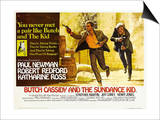 Butch Cassidy and the Sundance Kid, UK Movie Poster, 1969 Print