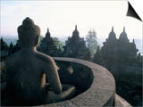 Bruno Barbier - Arupadhatu Buddha, 8th Century Buddhist Site of Borobudur, Unesco World Heritage Site, Indonesia Obrazy