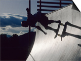 Skateboarder in Action on the Vert Print